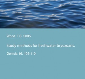 Wood. T.S. 2005. Study methods for freshwater bryozoans. Denisia 16: 103-110.